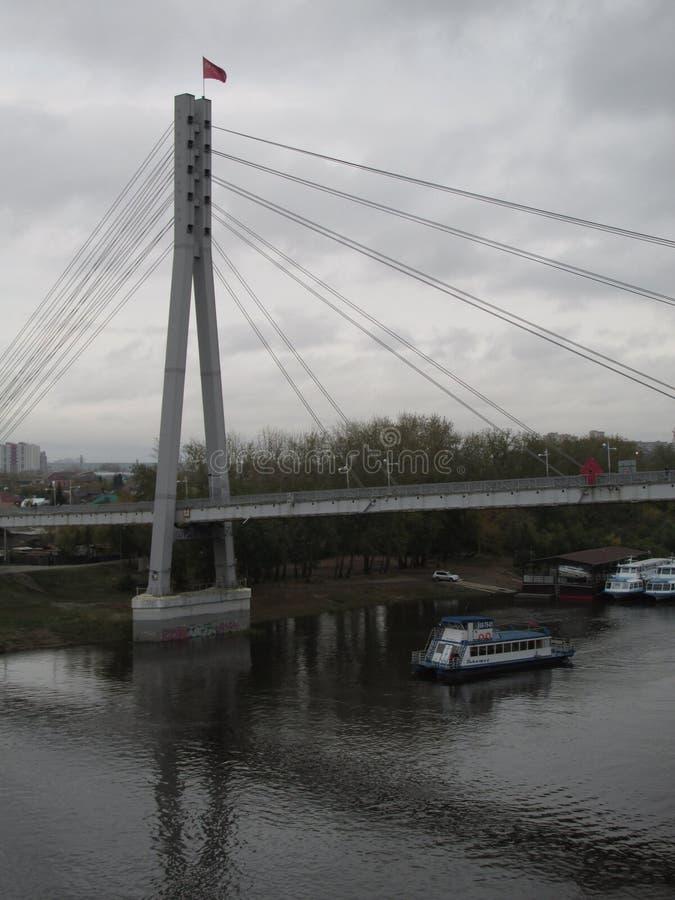 Ryssland Tyumen Den Tura floden arkivfoton