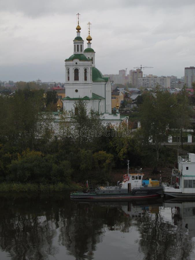 Ryssland Tyumen kyrklig kolomenskoe moscow russia för uppstigning arkivbilder