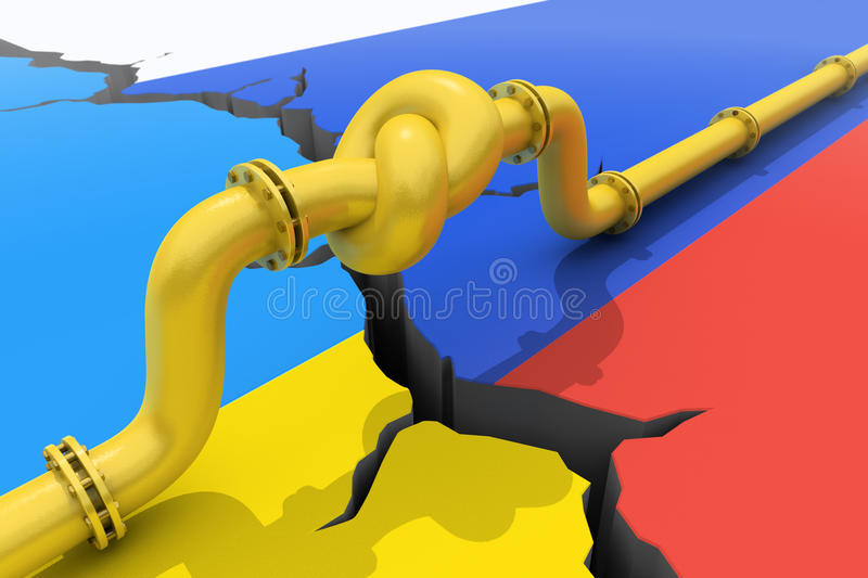 Ryssland-Ukraina gaskris royaltyfri illustrationer