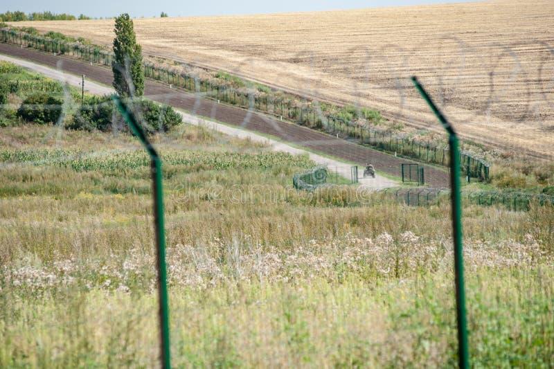 Ryssland Ukraina gräns arkivbilder