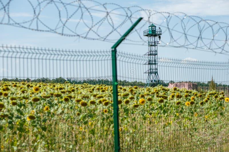 Ryssland Ukraina gräns arkivfoto
