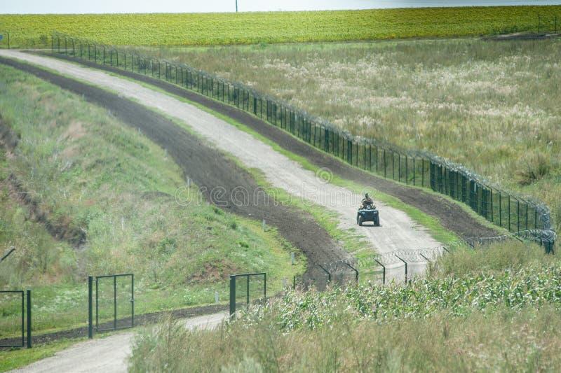 Ryssland Ukraina gräns royaltyfri fotografi
