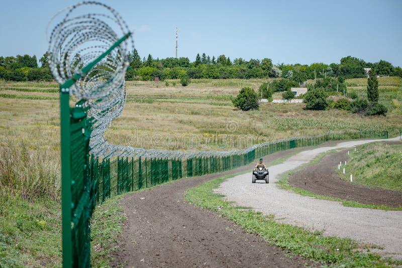 Ryssland Ukraina gräns royaltyfria bilder