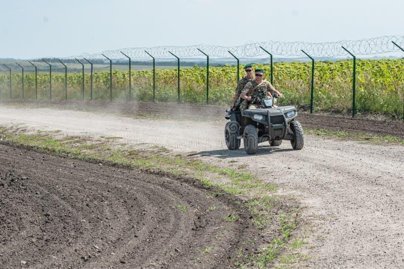 Ryssland Ukraina gräns royaltyfria foton