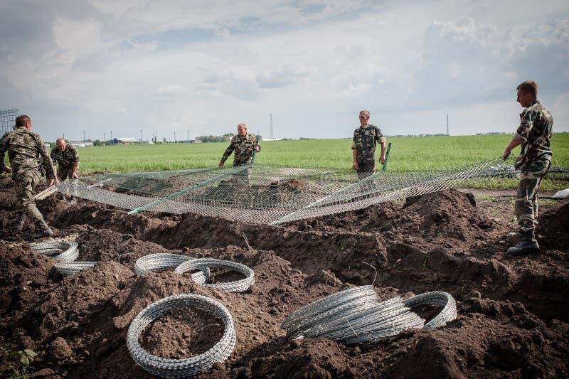 Ryssland-Ukraina gräns royaltyfria bilder