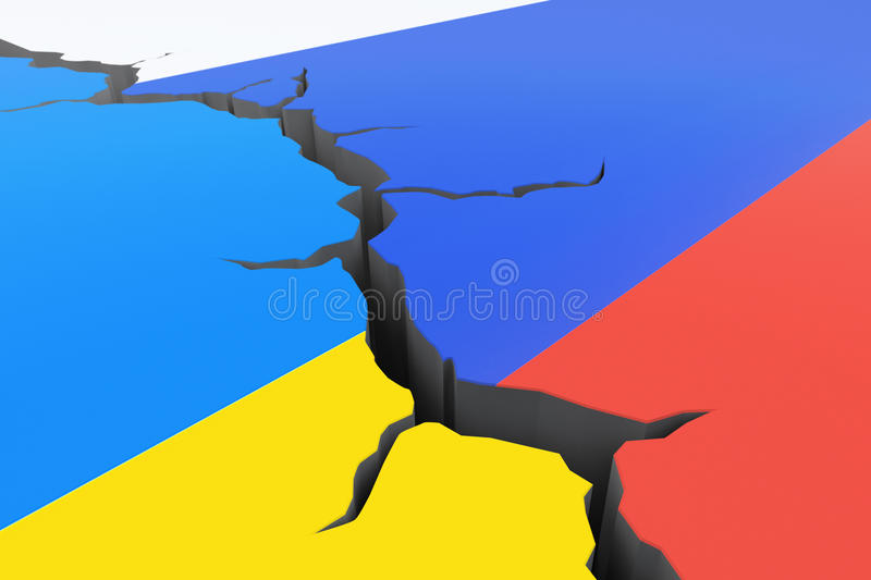 Ryssland-Ukraina kris vektor illustrationer