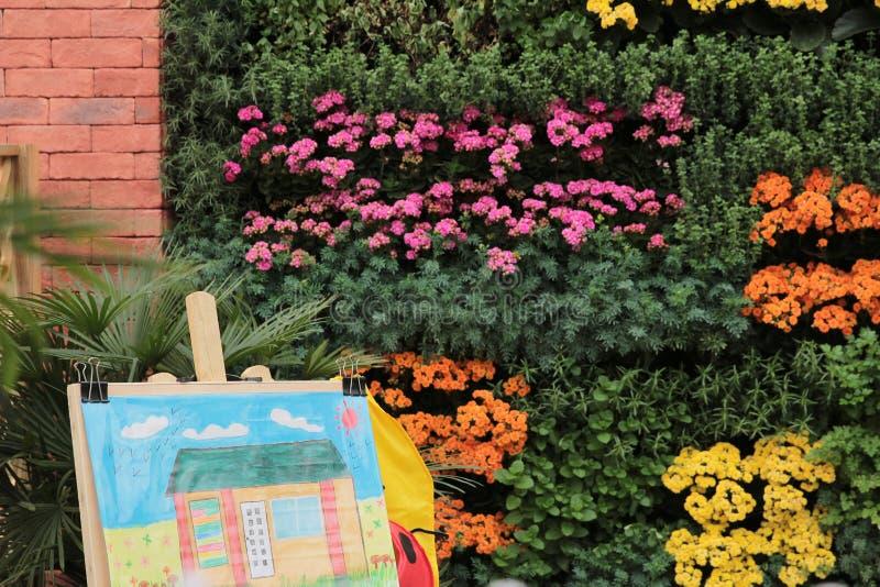 rysuje bukiet peonie w parku fotografia stock