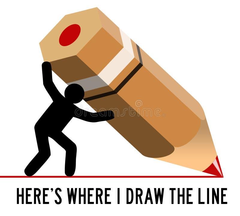 Rysuje linię ilustracja wektor