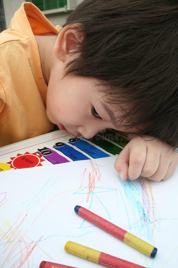 rysunek chłopca obraz royalty free