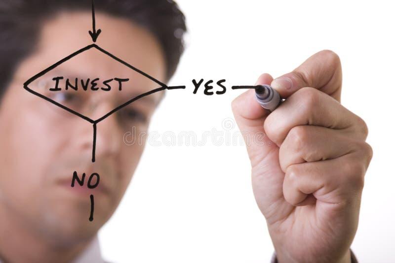 rysunek diagram działania biznesmena zdjęcie royalty free