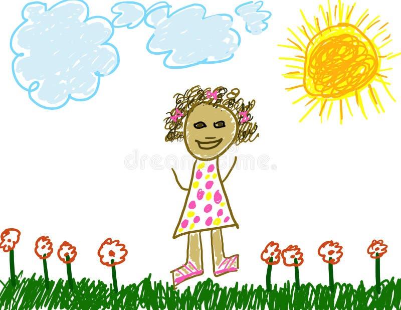 rysunek dziecka jak sama ilustracji