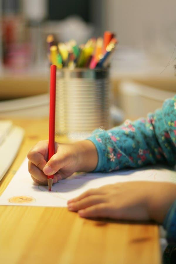 rysunek dziecka piśmie zdjęcia stock