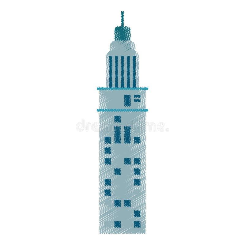 rysunkowa budynek architektura nowożytna ilustracja wektor