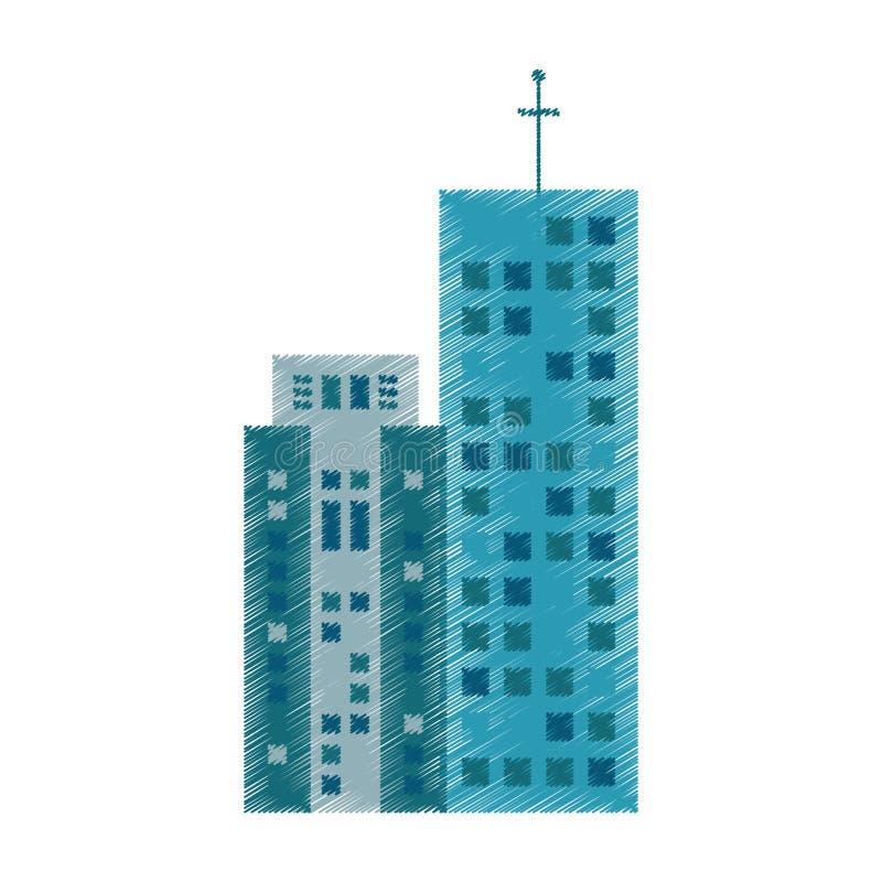 rysunkowa budynek architektura nowożytna royalty ilustracja