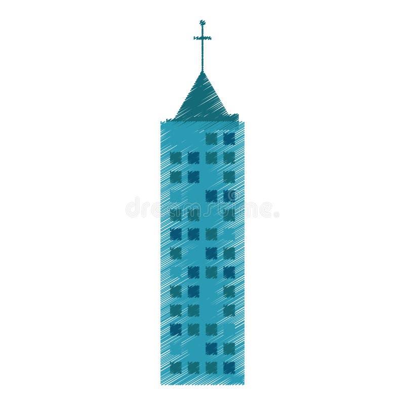 rysunkowa budynek architektury struktura ilustracja wektor
