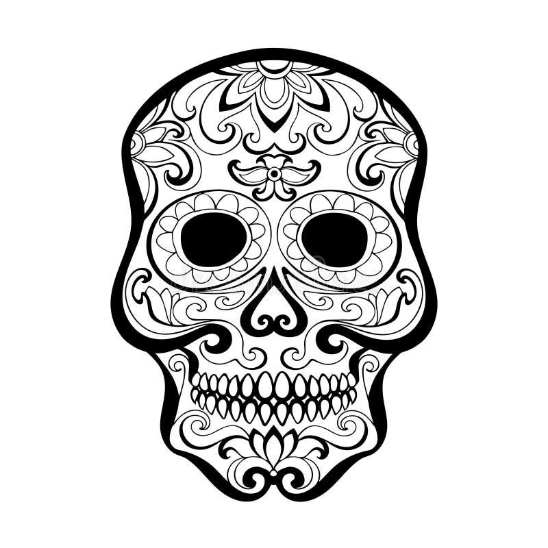 Rysunkowa czaszka ilustracji