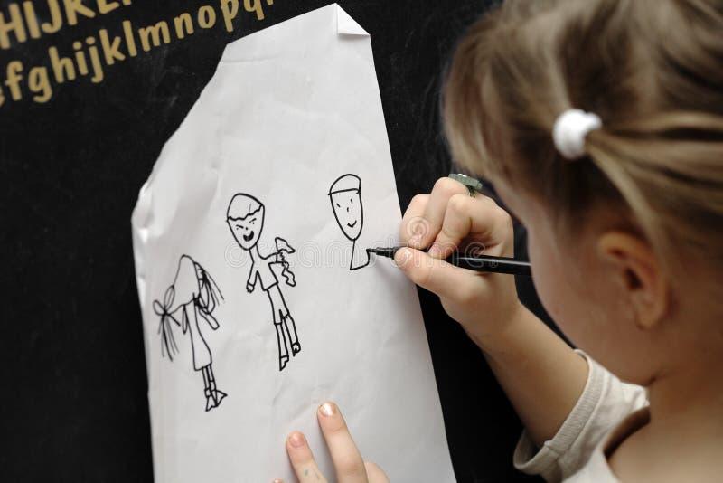 rysunkowa dziewczyna obrazy stock