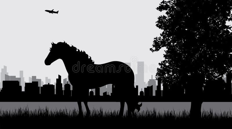 rysunkowa końska ilustracja śladu żadny wektor ilustracji