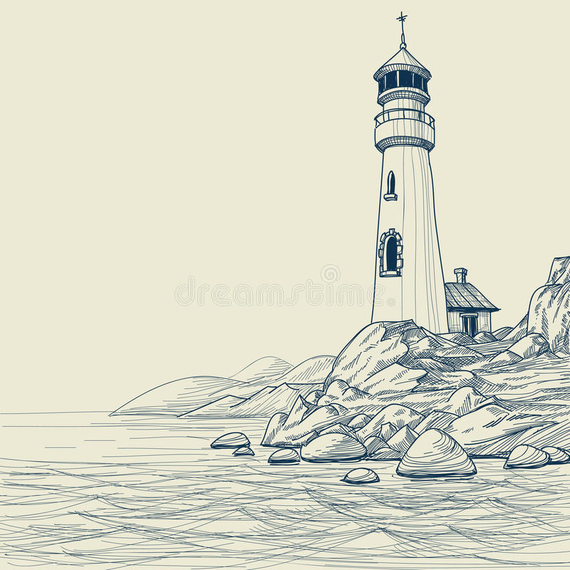 rysunkowa latarnia morska