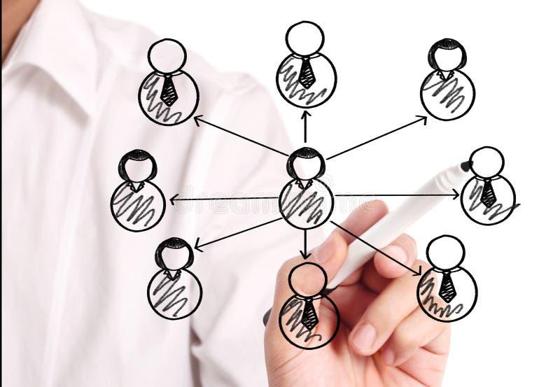 Rysunkowa ogólnospołeczna sieć ilustracja wektor