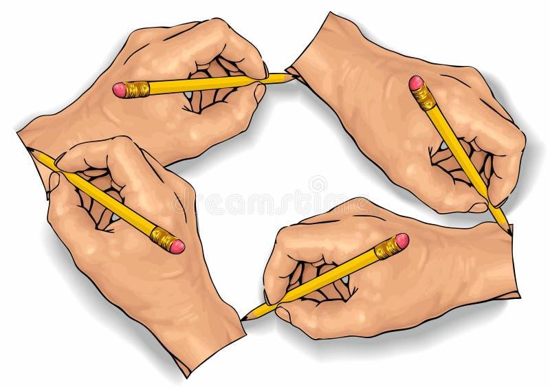 rysunkowa ręka royalty ilustracja