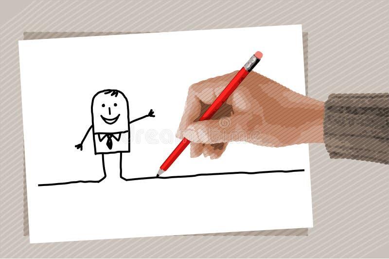 Download Rysunkowa ręka ilustracja wektor. Ilustracja złożonej z palce - 13333872