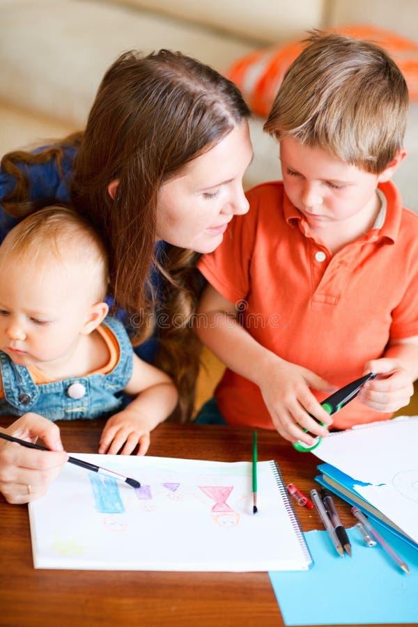 rysunkowa rodzina zdjęcie royalty free