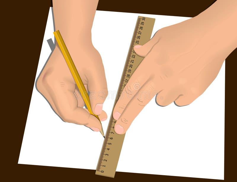 rysunkowe ręki royalty ilustracja
