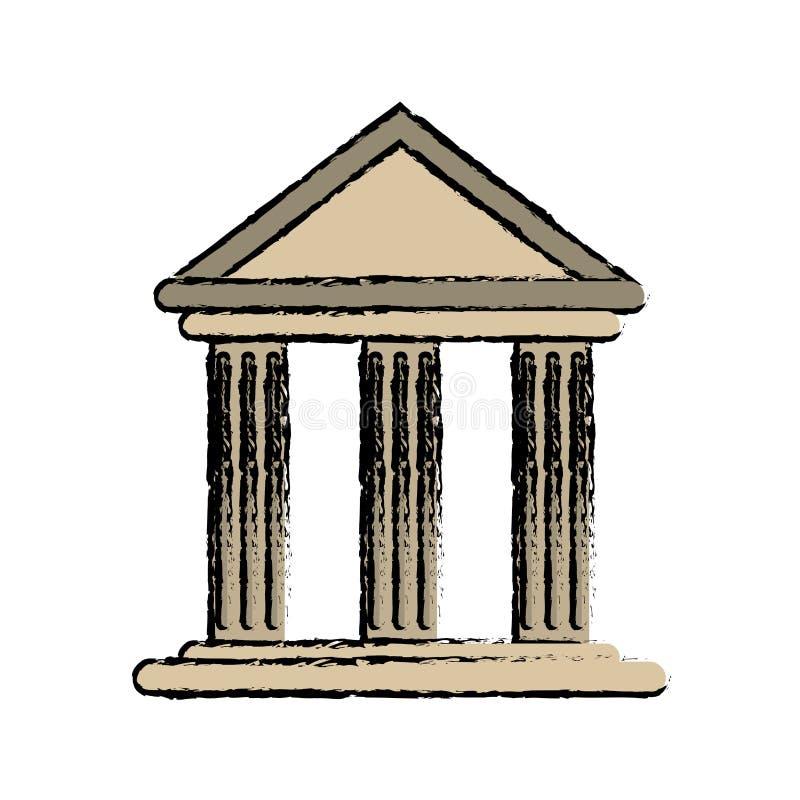 Rysunkowego budynku banka biurowa struktura ilustracji