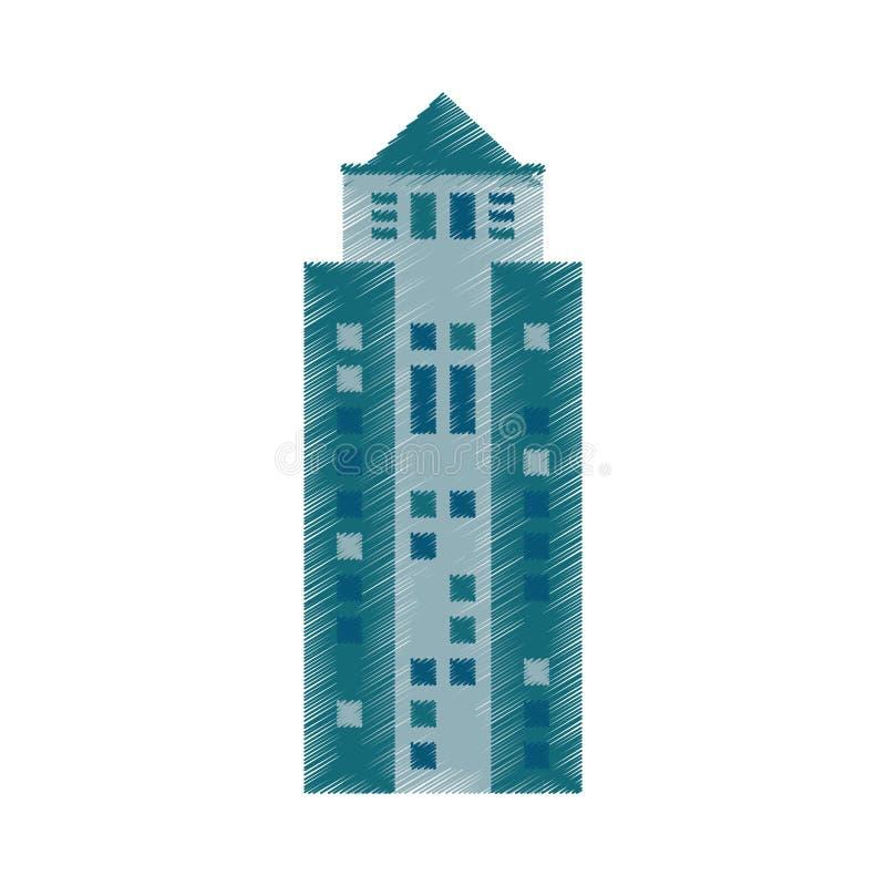 rysunkowego budynku biznesowa architektura nowożytna ilustracji