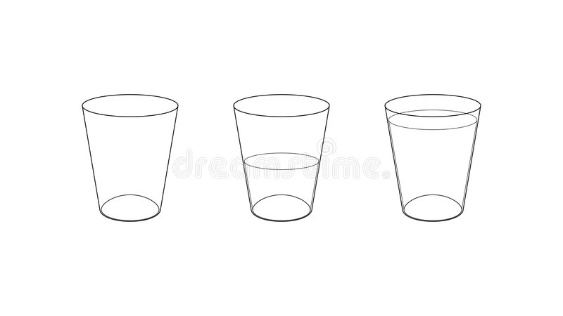 rysunkowi szkła techniczni trzy ilustracja wektor