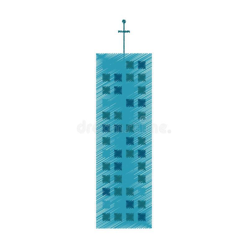 rysunkowy budynek architektury handel ilustracji