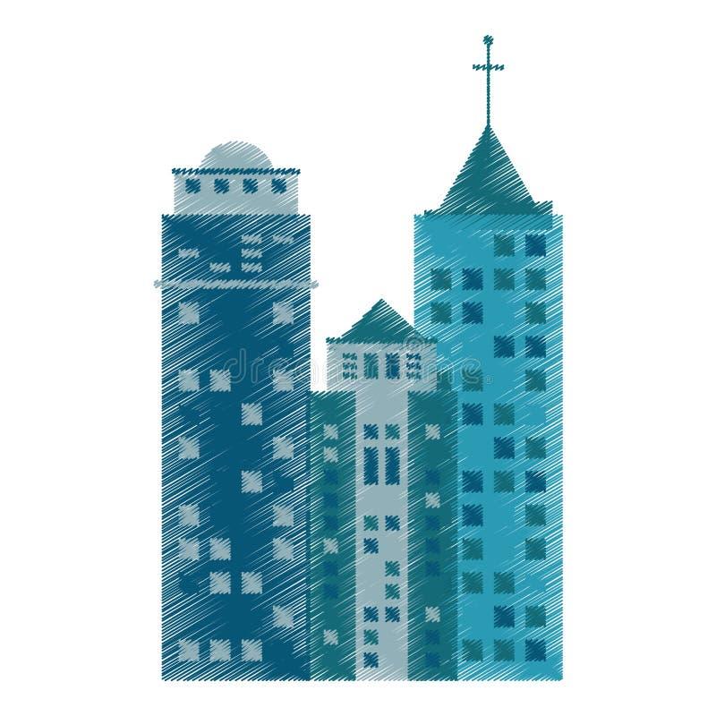 rysunkowy budynek architektury rówieśnik royalty ilustracja