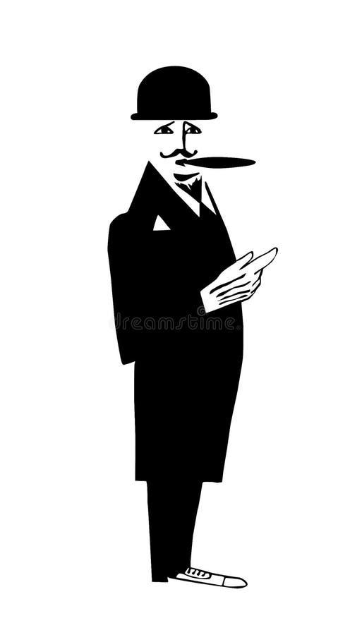 Download Rysunkowy dżentelmen ilustracja wektor. Obraz złożonej z cygaro - 6514996