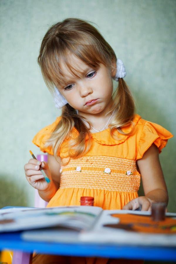 rysunkowy dziecko dom obraz stock