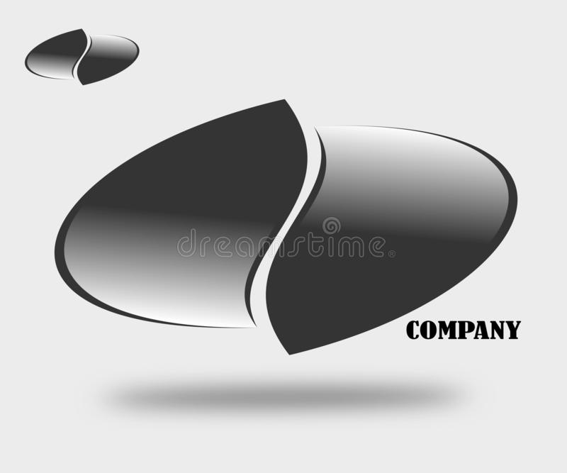 Rysunkowy firma logo emblemat ilustracji