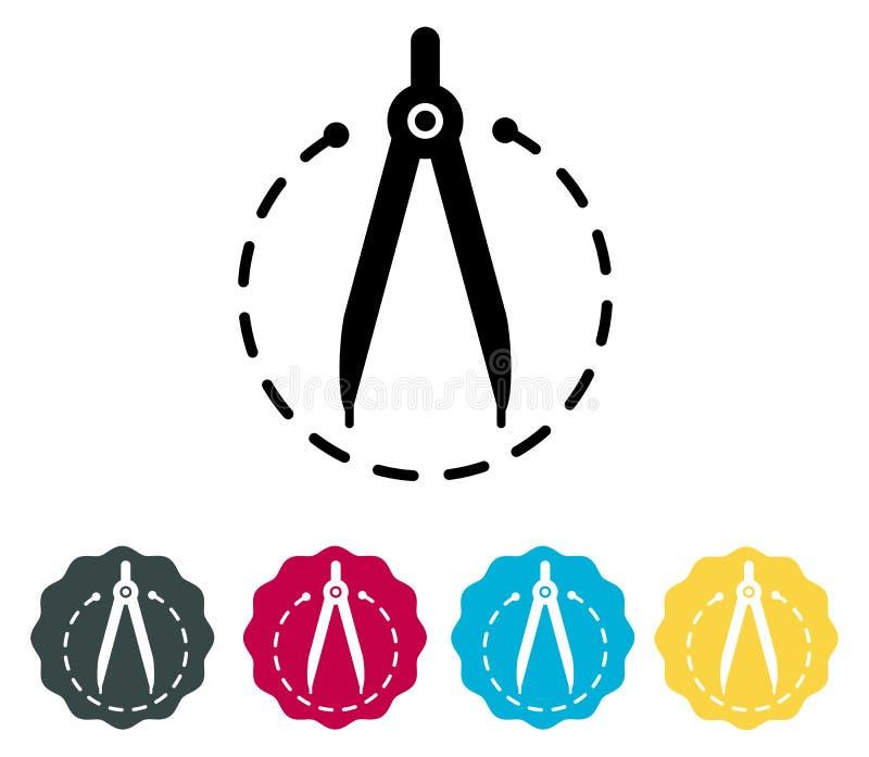 Rysunkowy kompas - ikona royalty ilustracja