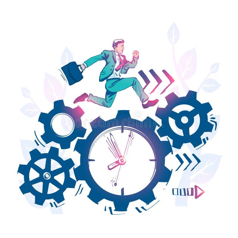 Rysunkowy nakreślenie czasu zarządzanie, kontrola Wektorowy ilustracyjny kresk?wka projekt ilustracja wektor