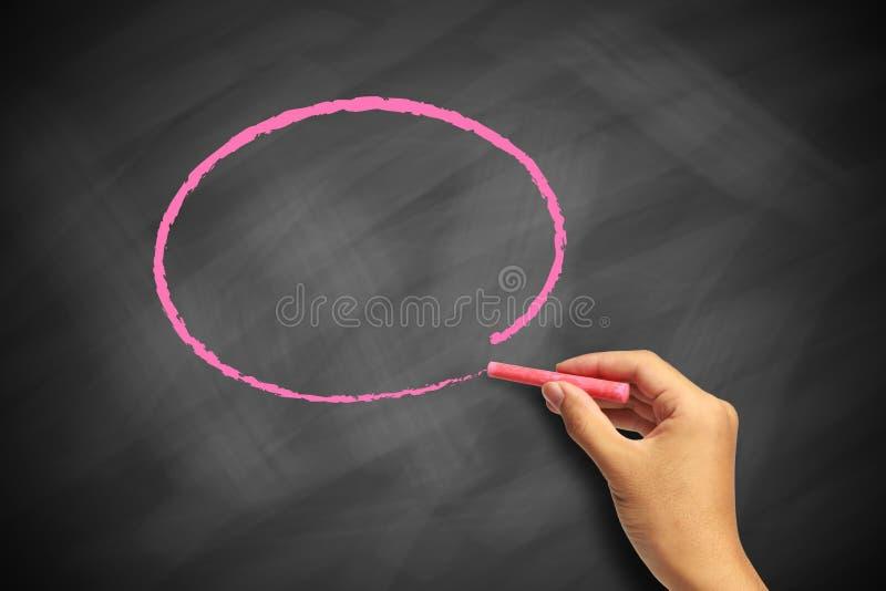 Rysunkowy okrąg na blackboard obrazy stock