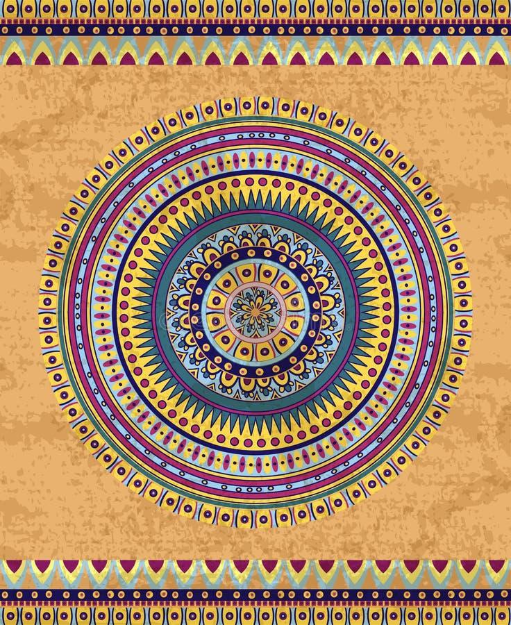 Rysunkowy plemienny doddle element royalty ilustracja