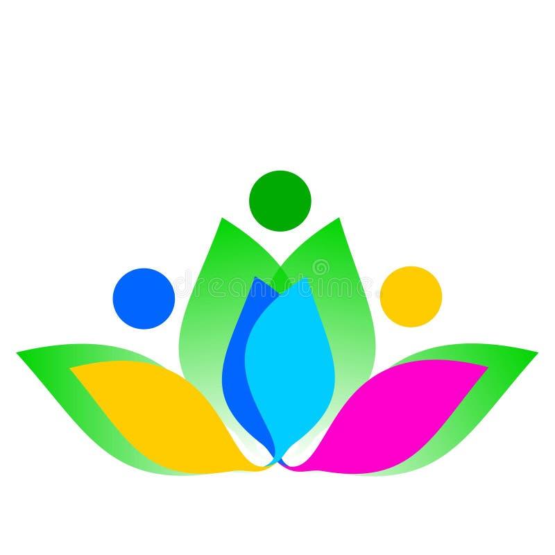 Rysunkowy wektorowy logo kwiat ilustracja wektor
