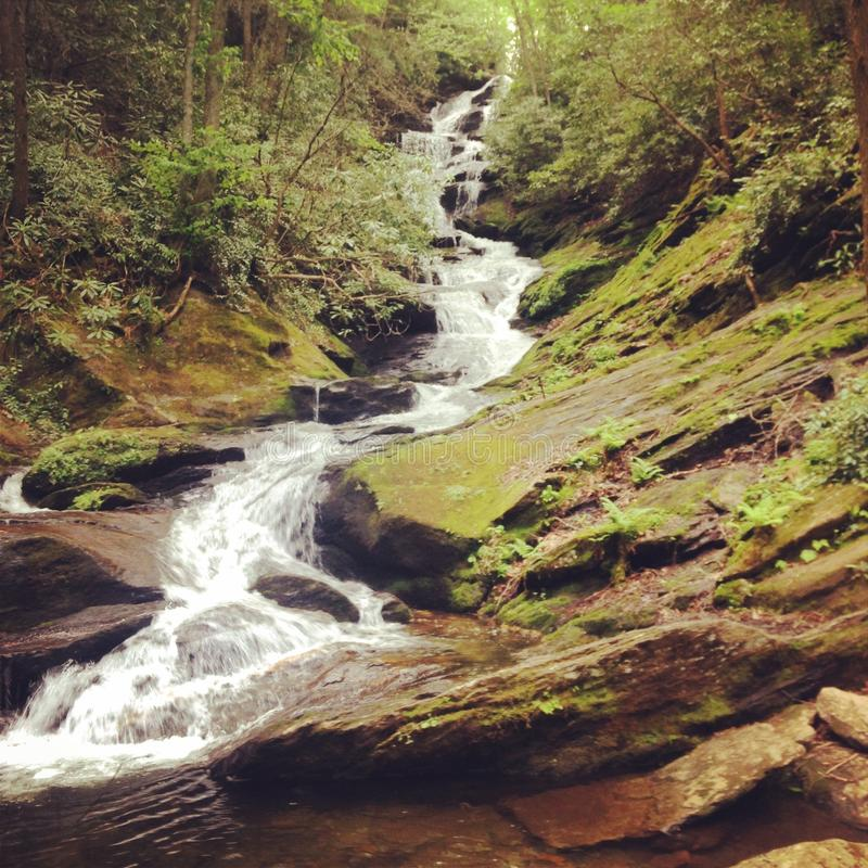 Rytande gaffelnedgångar Yancey County North Carolina arkivfoton