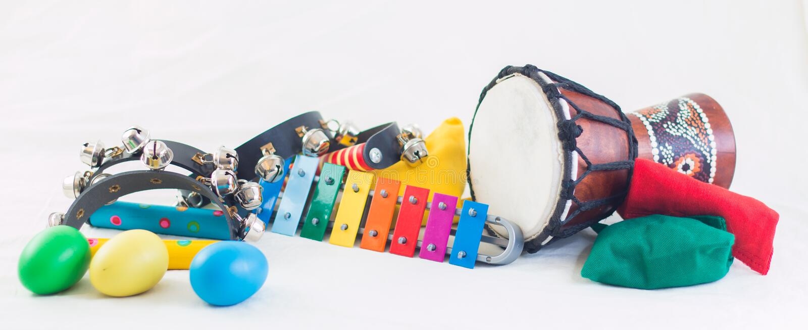 Rythm instruments royalty free stock photography