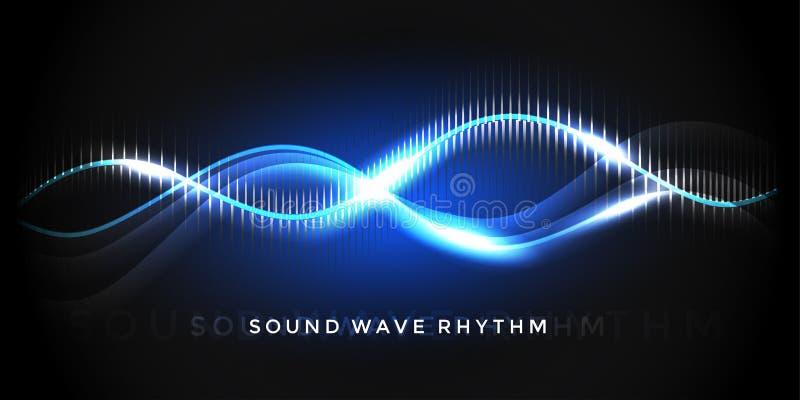 Rythme d'onde sonore illustration libre de droits