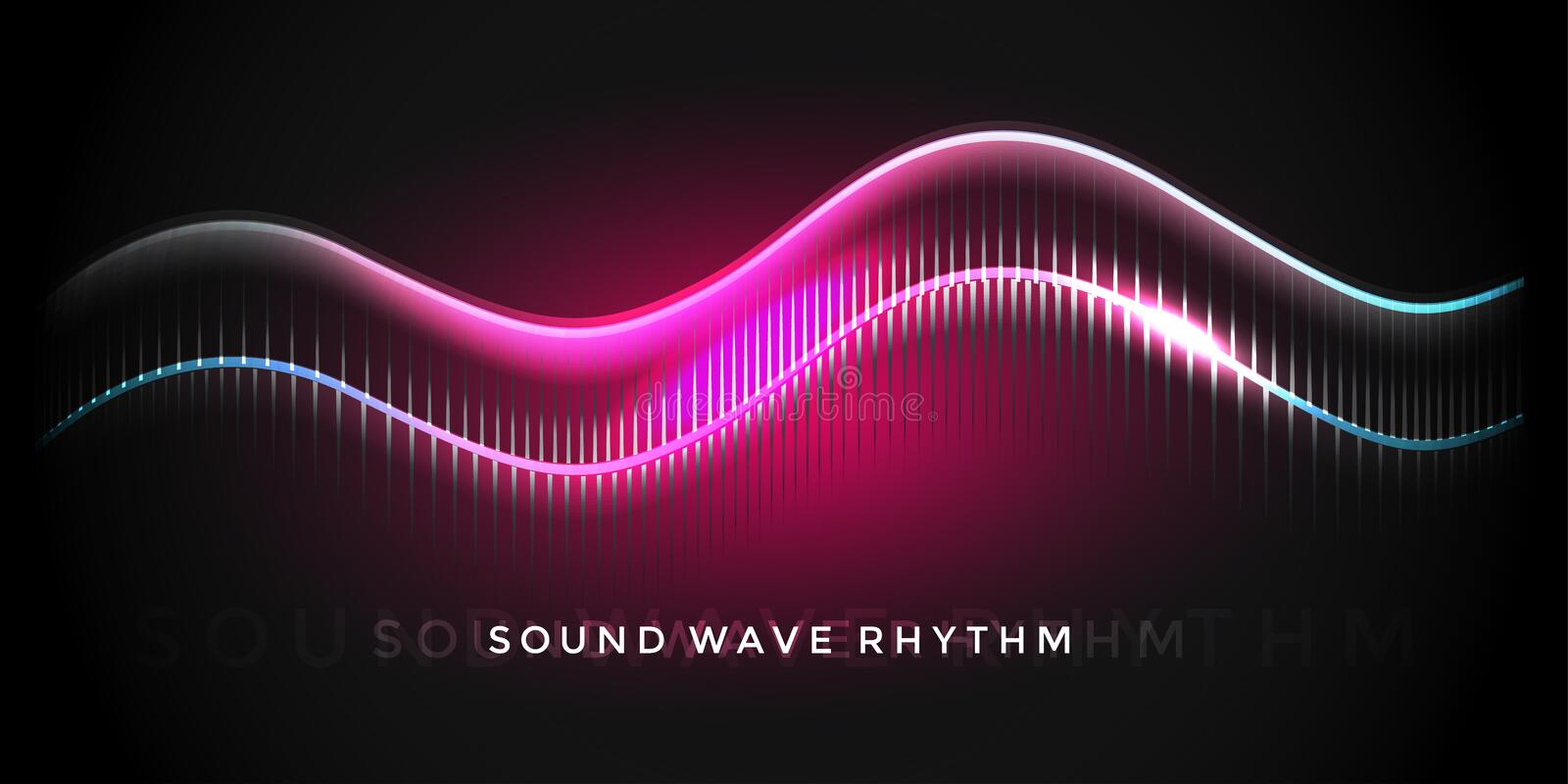 Rythme d'onde sonore illustration stock