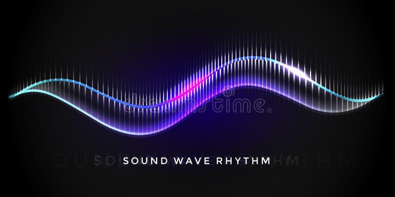 Rythme d'onde sonore illustration de vecteur