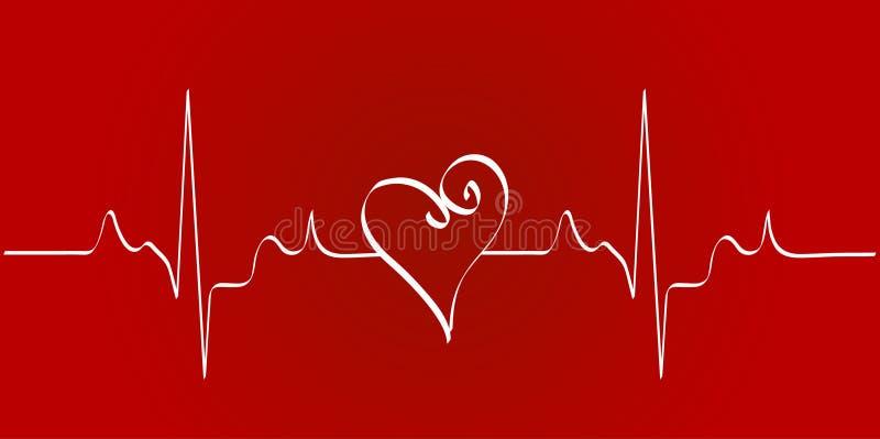 Rythme de coeur illustration libre de droits