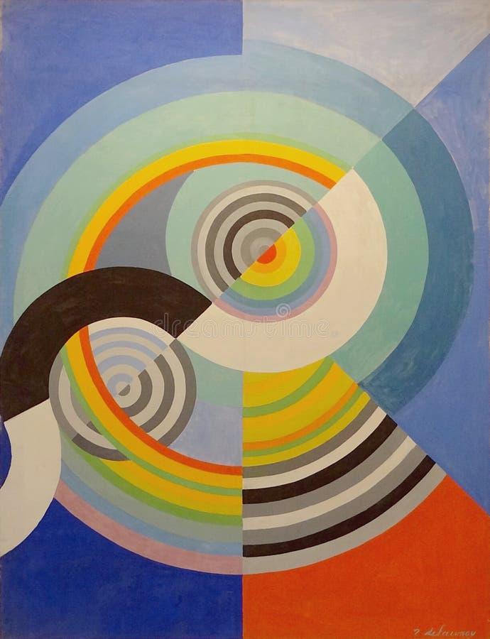 ' Rythme n°3, décoration льет le салон des Tuileries' , Роберт Delaunay, 1938 Musée d' Искусство moderne de Ла ville de стоковое изображение rf