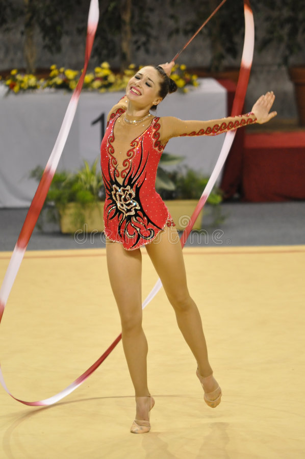 Rythmic gymnastic Irena Risenso, Israël stock photo