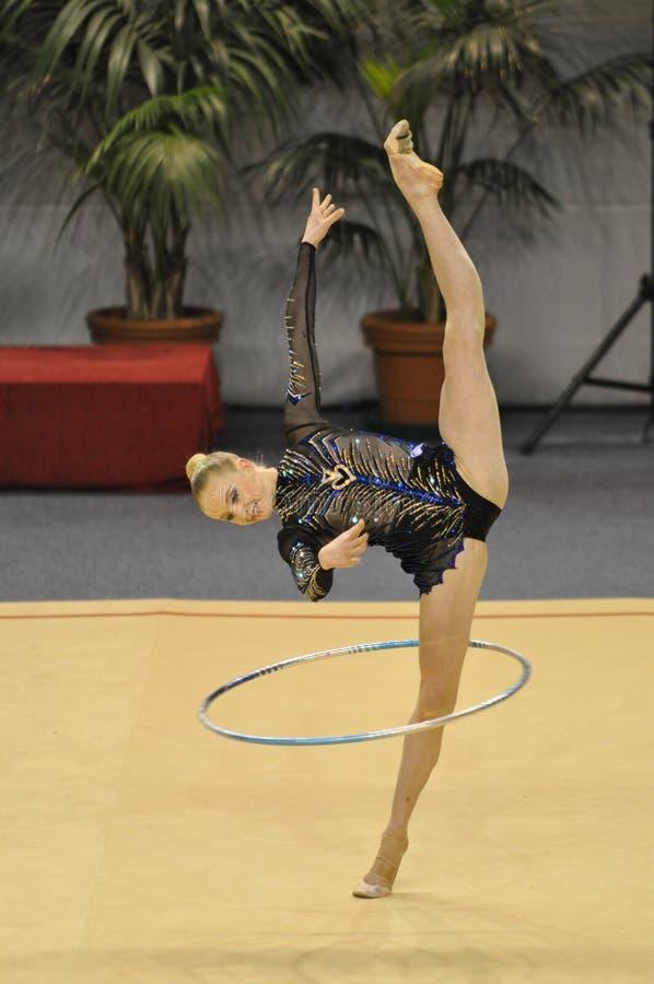 Rythmic gymnastic Olga Stryuchkova Russia royalty free stock photo